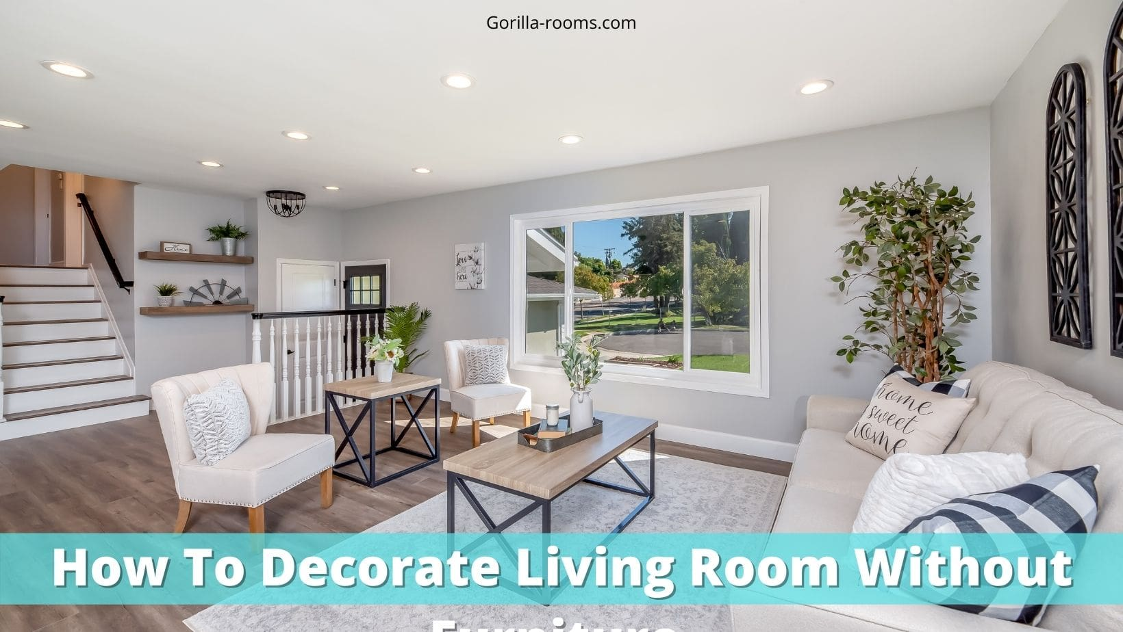 How To Decorate Living Room Without Furniture