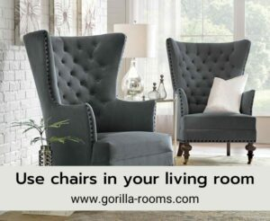 Chairs in living room