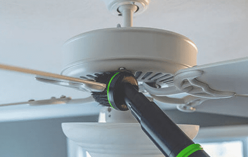 clean ceiling fan without ladder
