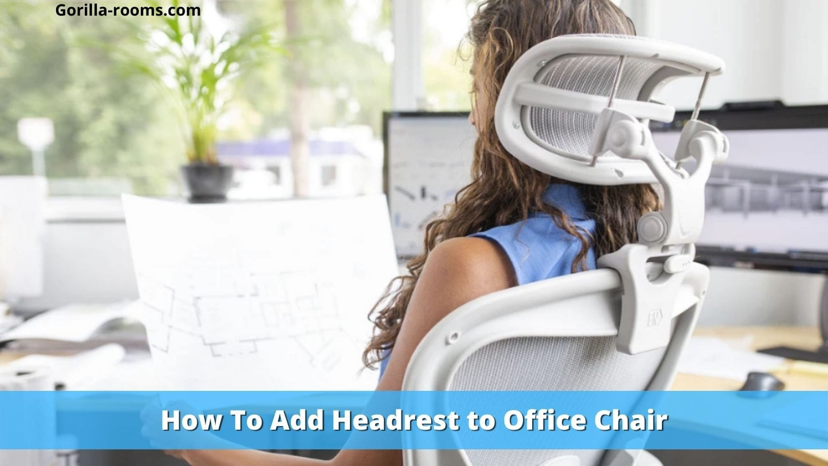 How to add headrest to office chair