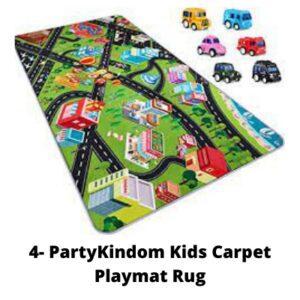 4- PartyKindom Kids Carpet Playmat Rug