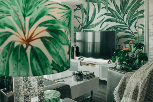fake effect of indoor plants